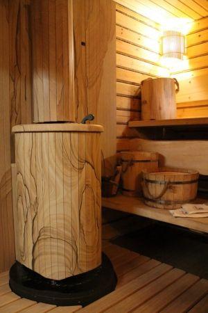 Печь VOHRINGER в облицовке «Окаменевшее дерево»