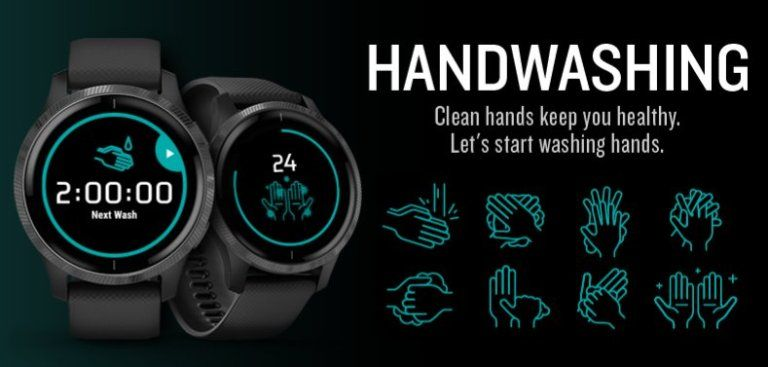 GARMIN выпустил собственное приложение для контроля и напоминания о мытье рук