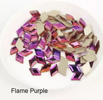 Ромб для маникюра 5*8 мм Flame Purple - 2 шт