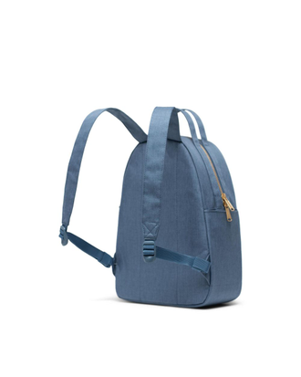 Рюкзак Herschel Nova Small Blue Mirage Crosshatch со спины