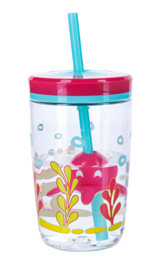 Детский стакан Contigo Floating Straw Tumbler 470ml голубой