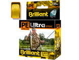 Плетёный шнур PE Ultra Brilliant Stoic Ultra Yellow 135 м 0.25 мм