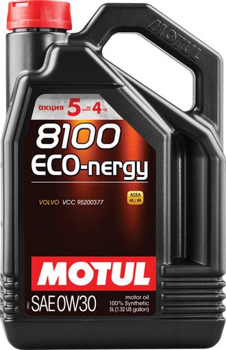 Motul 8100 Eco-nergy 0w30 5Л (5Л ПО ЦЕНЕ 4Х)