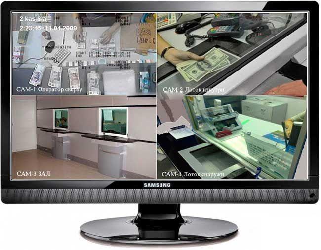 Установка видеонаблюдения в обменных пунктах