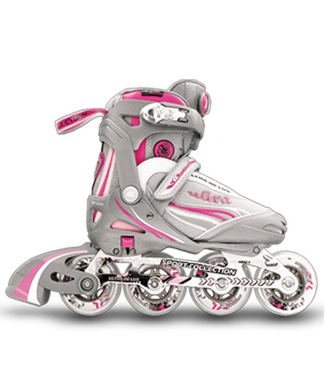 Раздвижные ролики СК (Спортивная коллекция) ULTRA de Luxe (розовый)