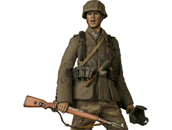 Немецкий солдат (версия 2) - Коллекционная фигурка 1/12 scale POCKET ELITE SERIES  WWII German Army Wehrmacht Panzergrgrenadier Regiment (VG002) - VTS TOYS