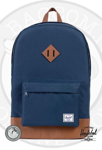 Hershcel Heritage Navy/Tan Synthetic Leather