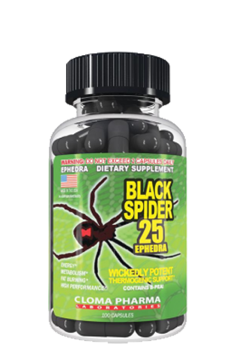 Black Spider 25 Cloma Pharma, 100 капсул