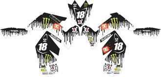 Suzuki LTR 450 ATV Quad #586KB KEN BLOCK style DECAL STICKER KIT