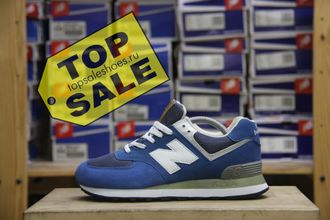 New Balance 574 Blue \ White