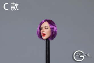 Женская голова (скульпт) 1/6 scale European and American sexy expression beauty head carving second shells (GC021D) - GACTOYS