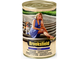 Консервы для собак BROOKSFIELD Adult Dog ягненок, говядина и рис 400 грамм