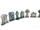 Tombstones (painted)