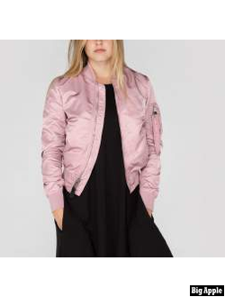 Куртка Alpha Industries Women Flight Jacket MA-1 VF Silver Pink