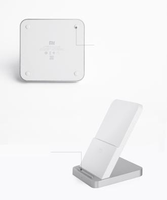 Зарядка беспроводная Xiaomi vertical air-cooled wireless charger (30W)