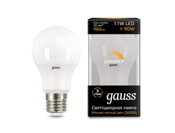 Gauss LED A60 DIM 11w 830/840 E27