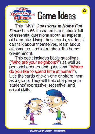 Wh-questions at home