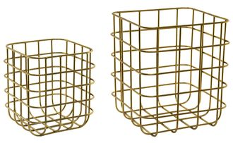 SIA STORAGE BASKETS S/2, H16/W14/L14 ; H21/W18/L18 , 620093 ,