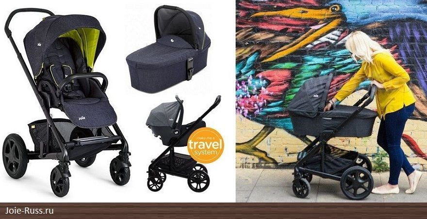 Joie Chrome DLX Carry Cot 2 в 1