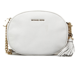 Клатч Michael Kors Ginny Medium Leather Crossbody (Белый)