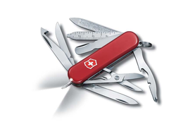 Нож-брелок VICTORINOX Midnight Mini Champ, 58 мм, 17 функций, красный