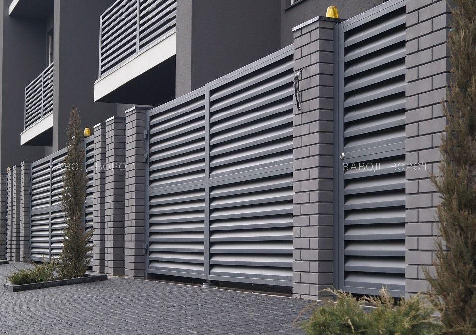 консольные ворота для частного дома