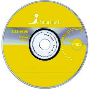 CD-RW SMART TRACK 80 min 4x-12x Design 2008 CB-10