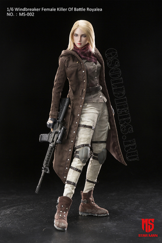 PlayerUnknown's Battlegrounds PUBG 1/6 Windbreaker Female Killer Of Battle Royale MS-002 STAR MAN