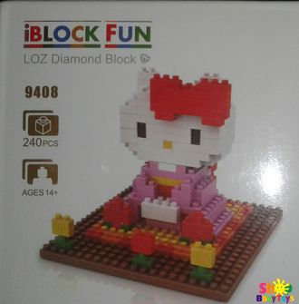 Конструктор iblocks Fun - Hello Kitty, 240 деталей - shopbabytoys.ru