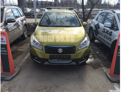 Защита радиатора Suzuki SX4 (II S-Cross) 2013-2016 chrome