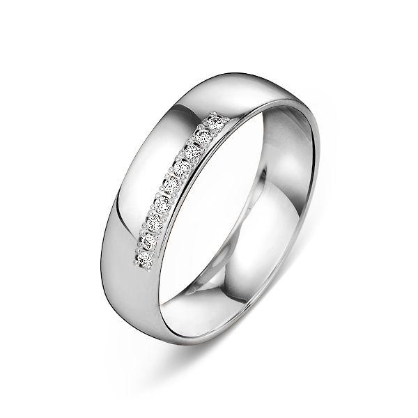f543fbfd7cbf Обручальное кольцо из белого золота 9 бриллиантов. 7-0012 б.