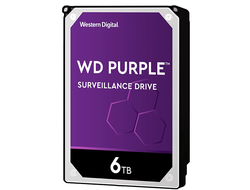 ЖЕСТКИЙ ДИСК HDD 6TB WESTERN DIGITAL PURPLE SATA 6GB/S 5400RPM