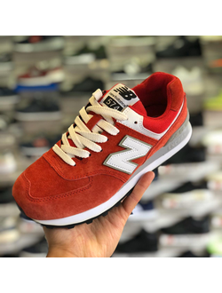 NEW BALANCE 574 RED WHITE ЖЕНСКИЕ