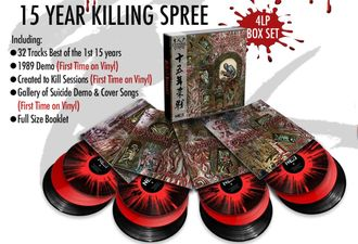 Cannibal Corpse -  15 Year Killing Spree 4-LP BOX RED