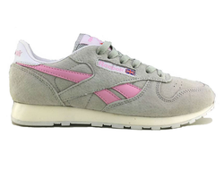 Reebok Classic Leather Grey Pink (36-41) Арт. 160M-A