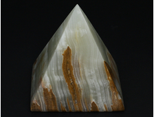 Пирамида Оникс мраморный, Пакистан (76*76*78 мм, вес: 465 г) №20683