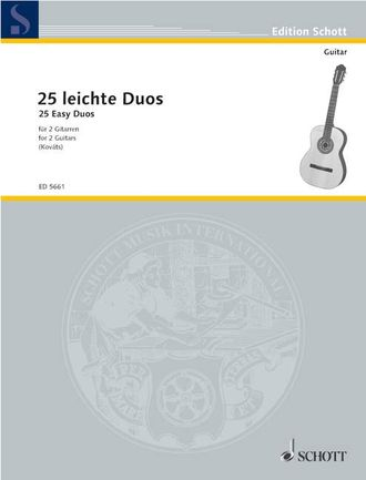 25 Easy Duets for 2 guitars