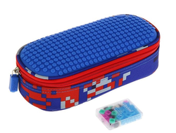 Пиксельный пенал Upixel Super class pencil case синий