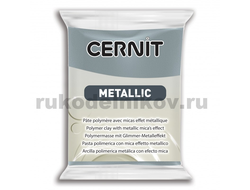 полимерная глина Cernit Metallic, цвет-steel 167 (сталь), вес-56 грамм