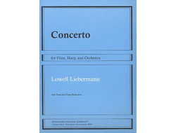 Liebermann Concerto op.48 for flute, harp and orchestra (solo parts and piano reduction)
