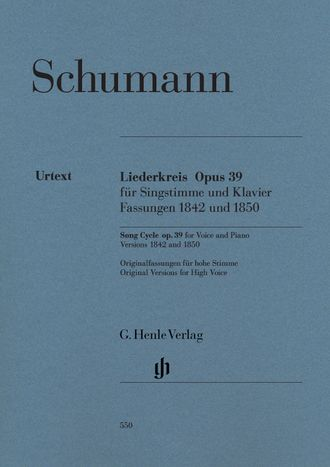 Schumann Liederkreis op. 39, Versions 1842 and 1850