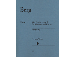 Berg: Four Pieces op. 5 for Clarinet and Piano