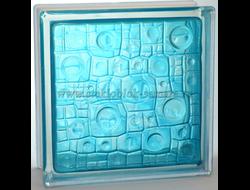 Стеклоблок Vitrablok окрашенный внутри губка бирюза