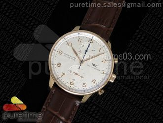 Portuguese Chrono IW371480 ZF 11 Best Edition on Brown Leather Strap