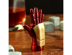 "Зажигалка электронная ""Iron Man"", USB, спираль, бордовая, 2х5х7.5 см"