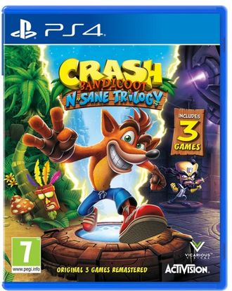 Диск Sony PS4 Crash Bandicoot N'sane Trilogy