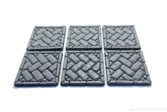 "Brickwork floor tiles 1.5"" №01"