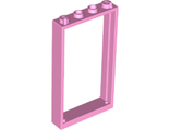 Door, Frame 1 x 4 x 6 with Two Holes on Top and Bottom, Bright Pink (60596 / 6119404)