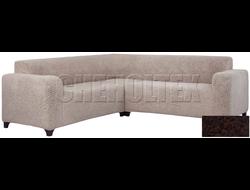 Чехол Велсофт на угловой диван, цвет Шоколад