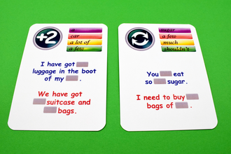 countable and uncountable nouns, creativo, fun cards